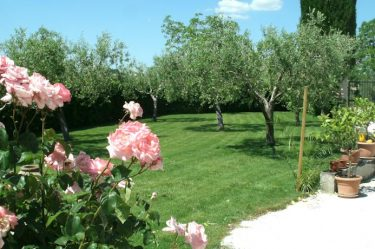 giardino del casolare a Montefalco