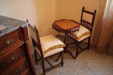soggiorno dell'appartamento a Montefalco